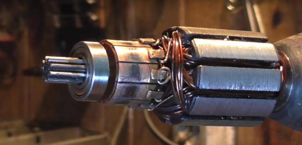 Восстановление коллектора электродвигателя